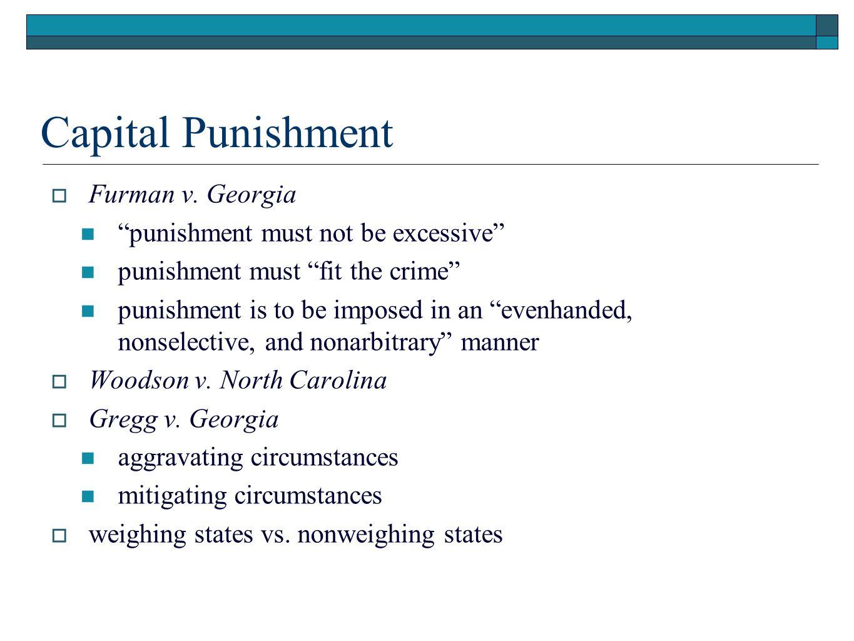 Capital Punishment  Furman v.
