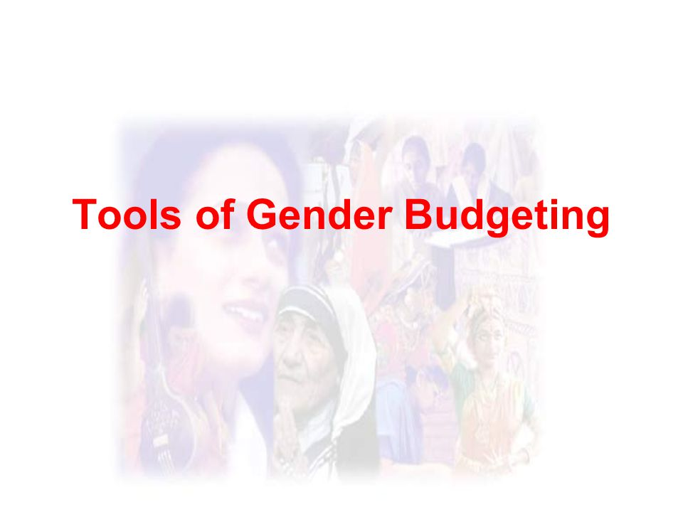 Tools of Gender Budgeting