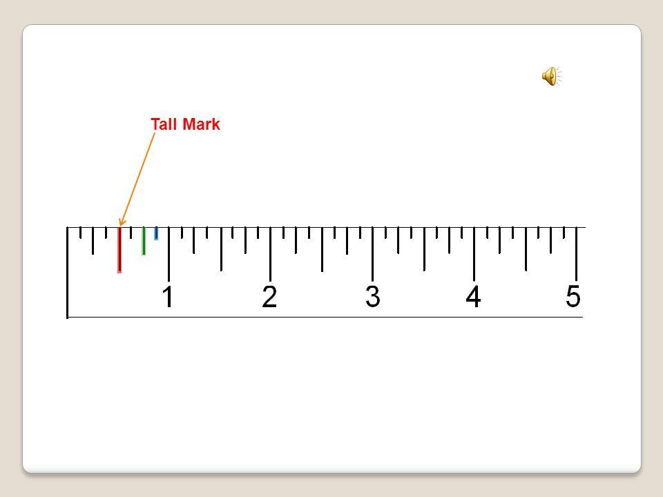 Inch mark (numbered) Short Mark Medium Mark Tall Mark