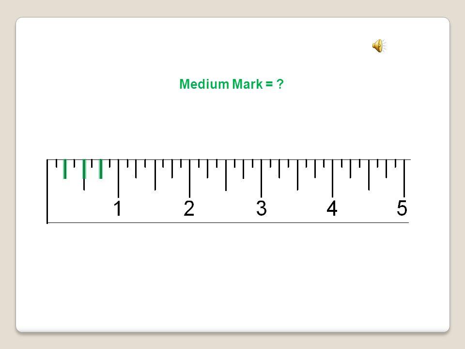 Medium Mark = Quarter Inch Mark