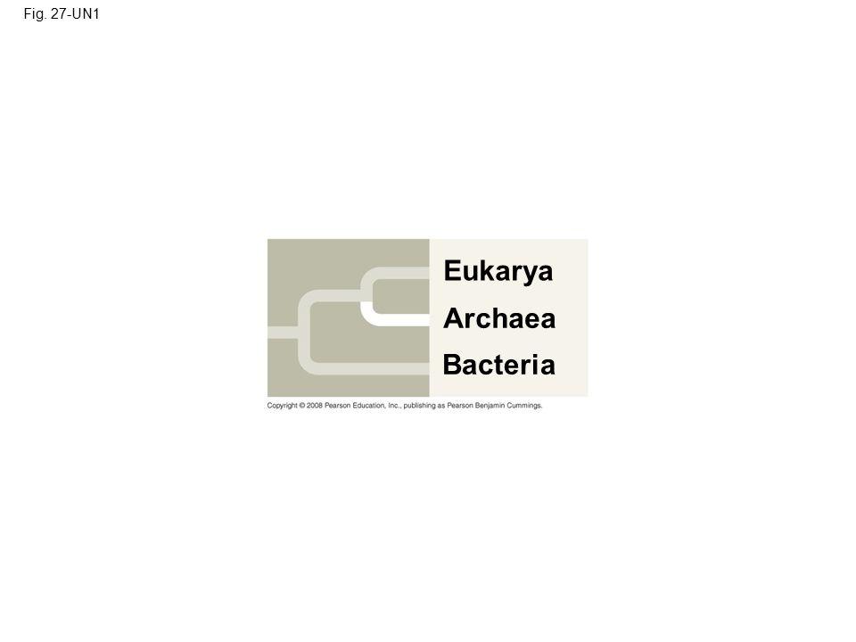 Fig. 27-UN1 Eukarya Archaea Bacteria