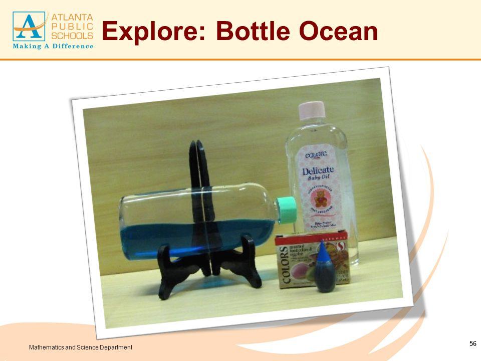 Mathematics and Science Department Explore: Bottle Ocean 56
