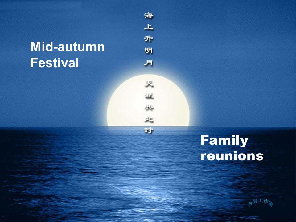 Mid-autumn Festival Family reunions
