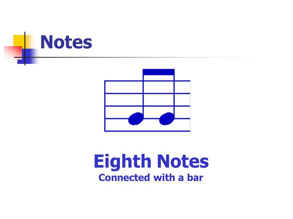 Notes Eighth Notes Connected with a bar