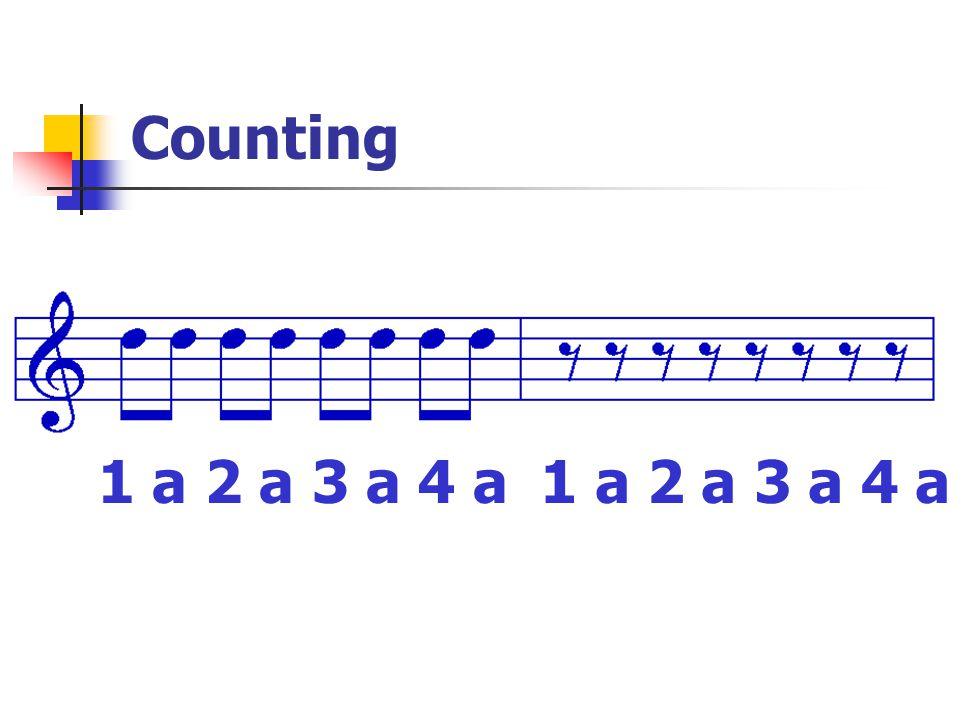 Counting 1 a 2 a 3 a 4 a