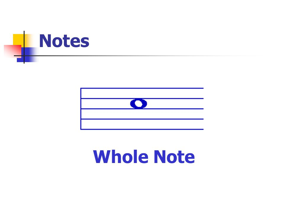 Notes Whole Note