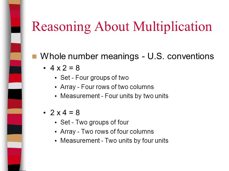 Reasoning About Multiplication Whole number meanings - U.S.