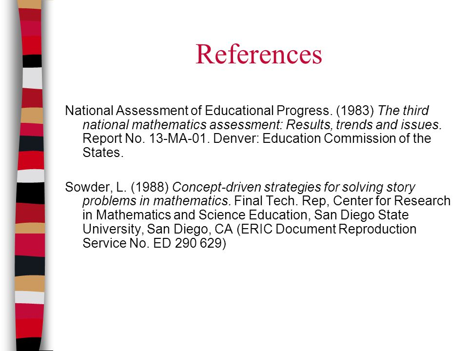 References National Assessment of Educational Progress.