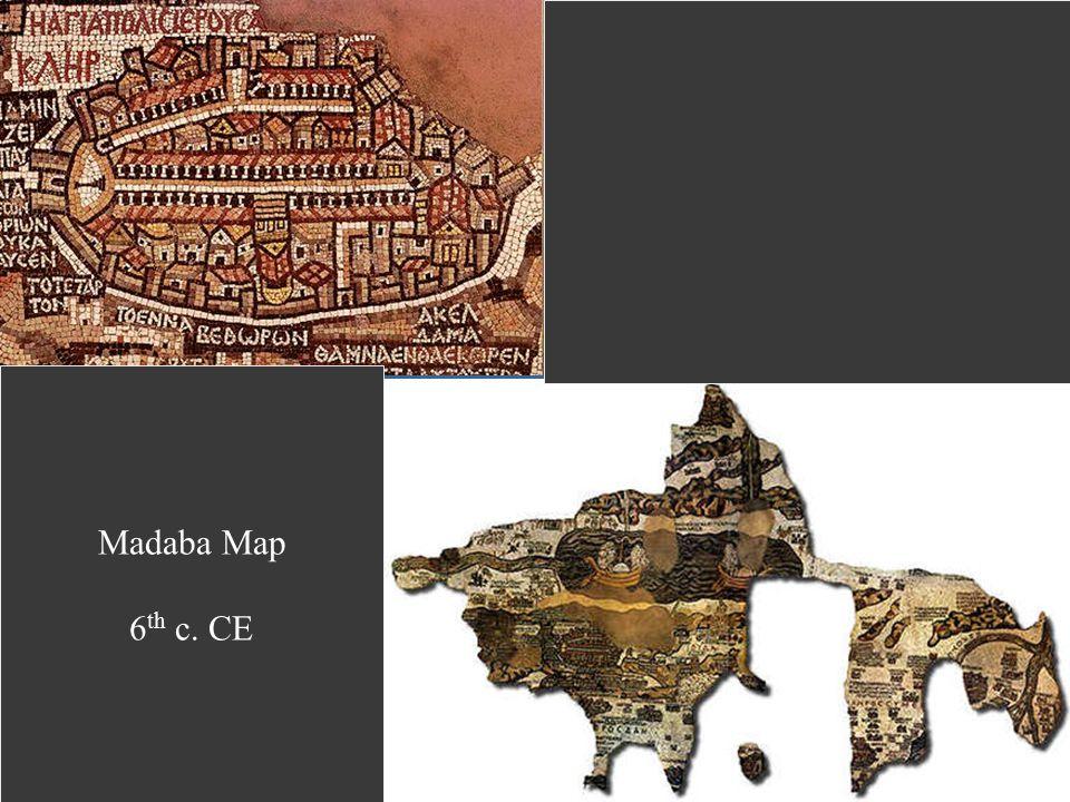 Madaba Map 6 th c. CE