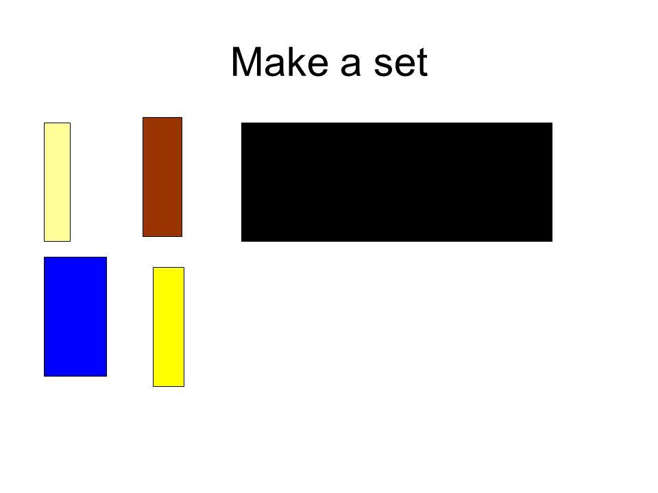 Make a set