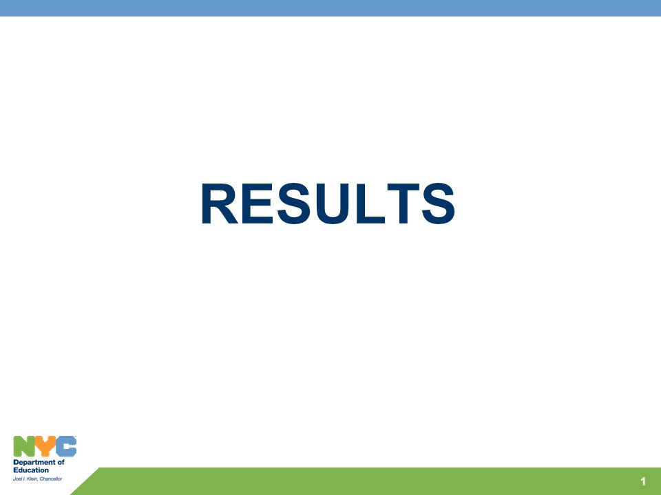 1 RESULTS