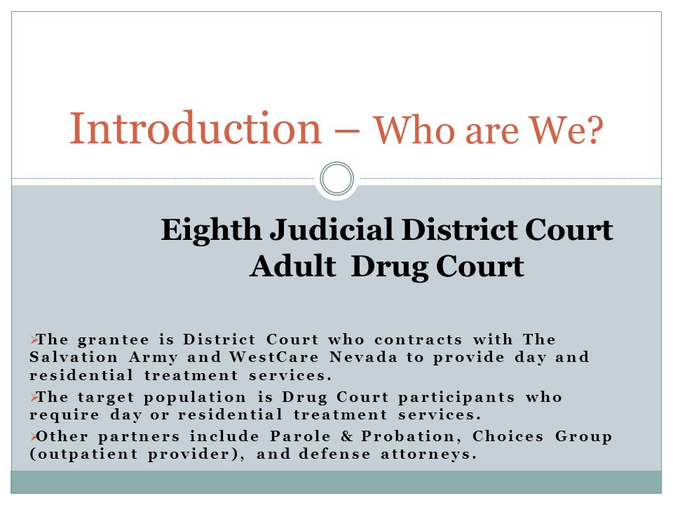 AIM (PLAN) Increase retention of clients from Drug Court referred to The Salvation Army Adult Rehabilitation Program.