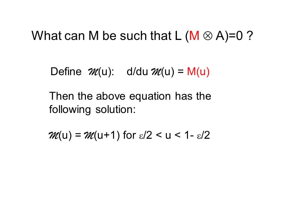 What can M be such that L (M  A)=0 .