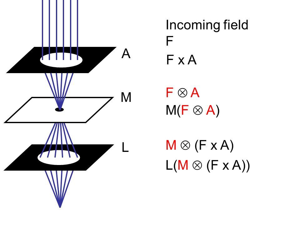 L L(M  (F x A)) M  (F x A) M M(F  A) F  AF  A A F x A Incoming field F