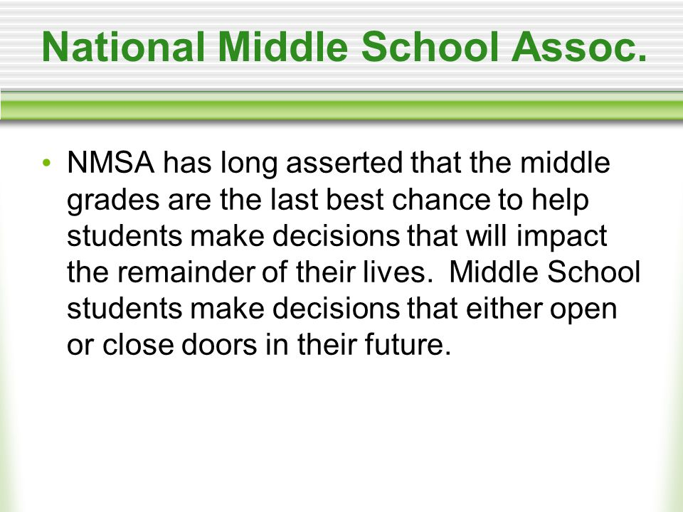 National Middle School Assoc.