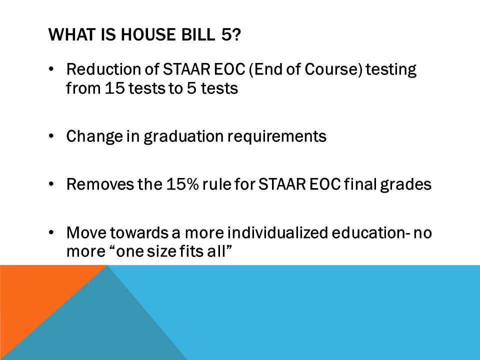 WHAT IS HOUSE BILL 5.