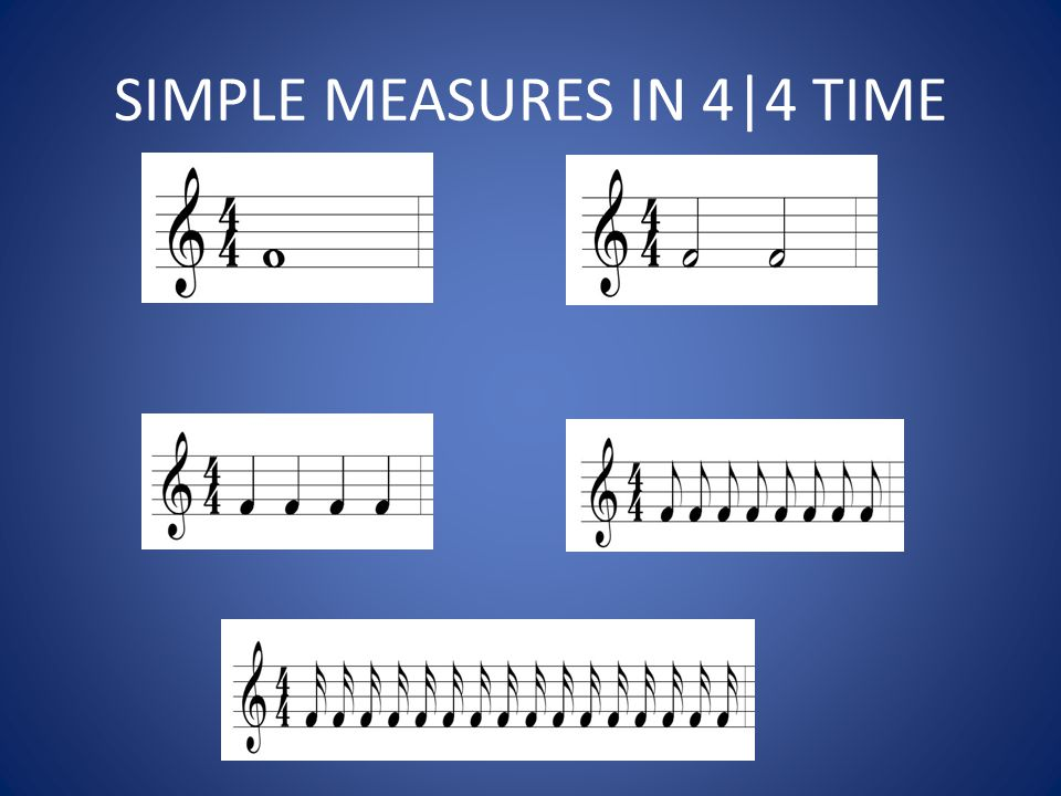 SIMPLE MEASURES IN 4|4 TIME