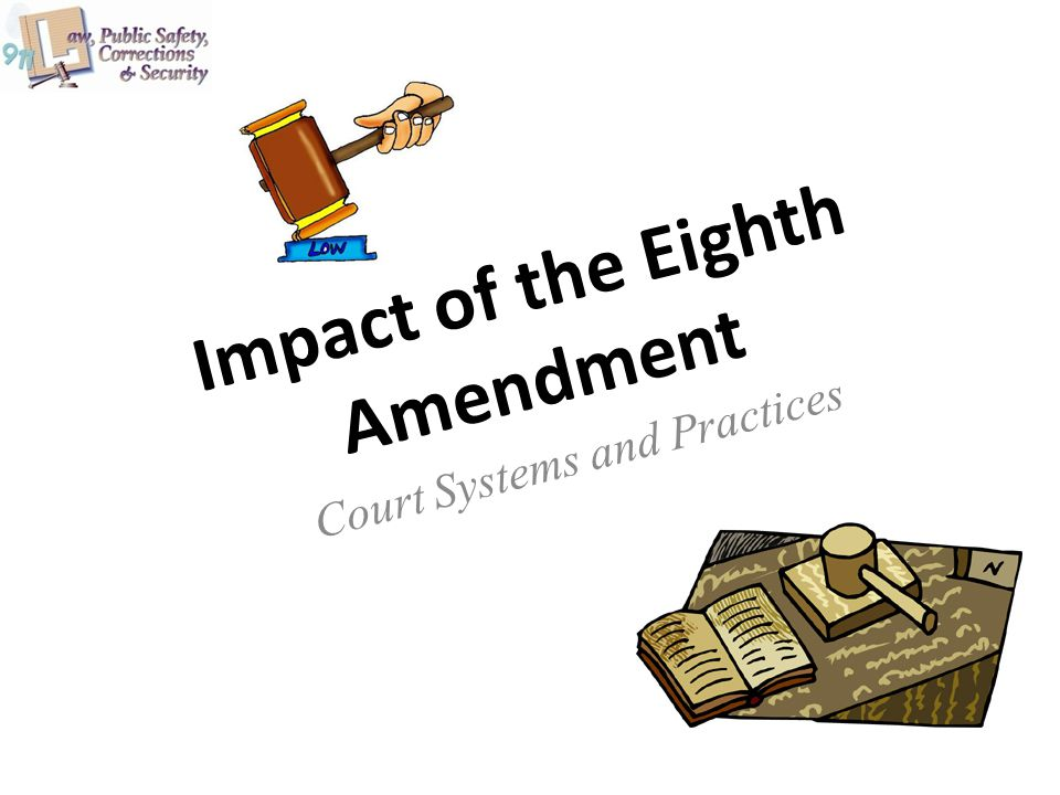 Impact of the Eighth Amendment Court Systems and Practices