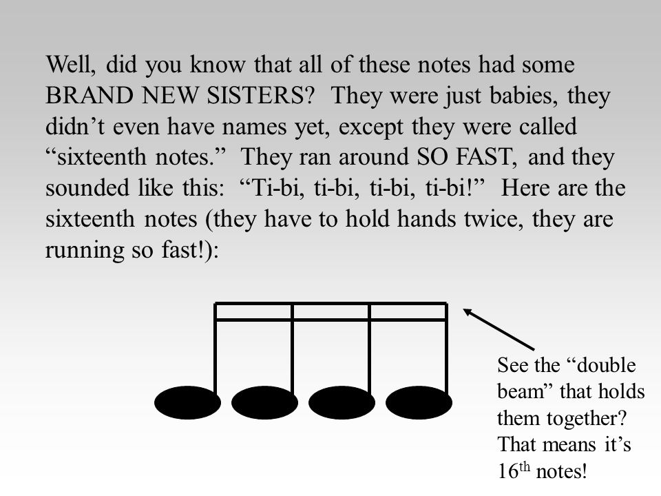 Well, did you know that all of these notes had some BRAND NEW SISTERS.