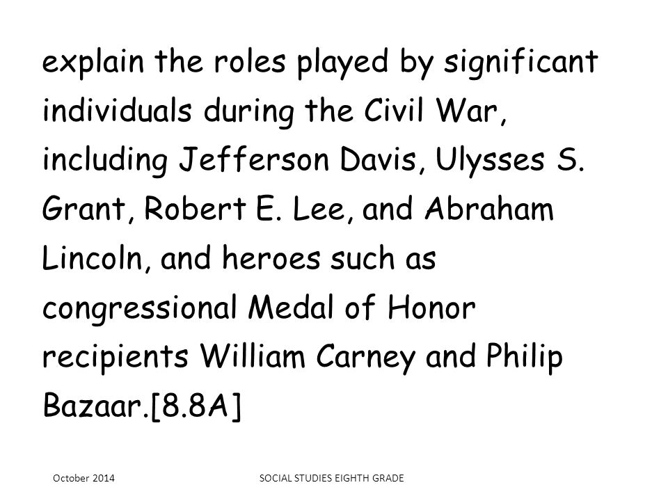 explain the roles played by significant individuals during the Civil War, including Jefferson Davis, Ulysses S. Grant, Robert E. Lee, and Abraham Linc