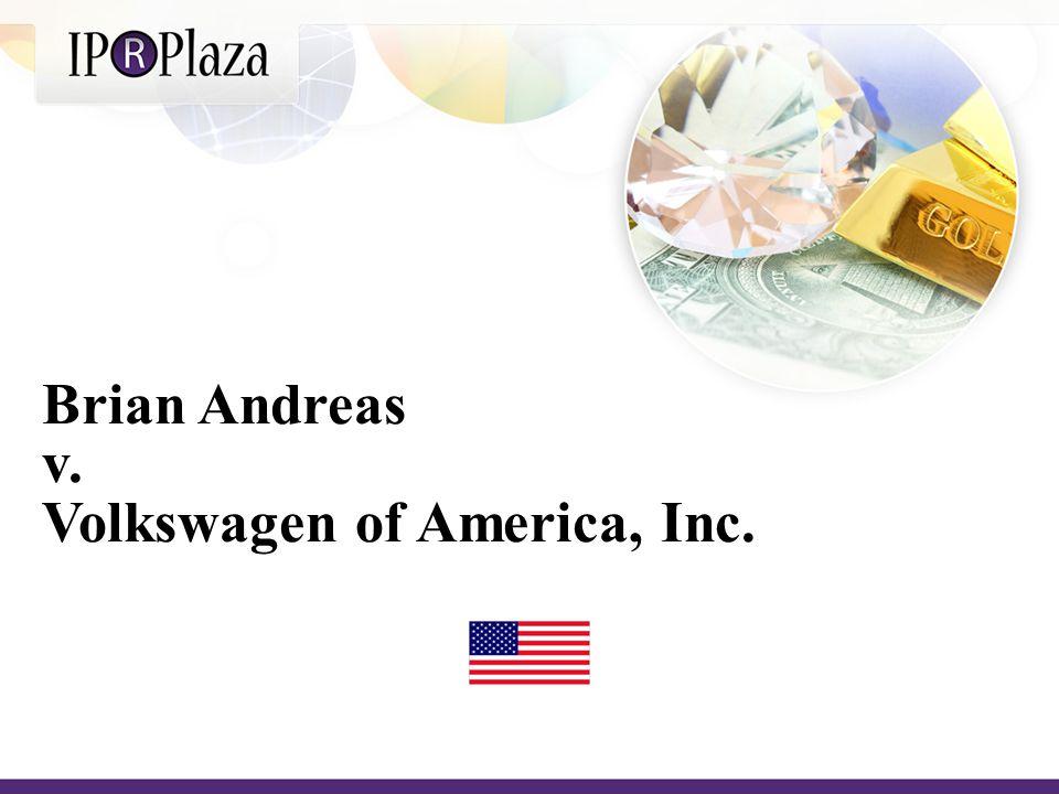 Brian Andreas v. Volkswagen of America, Inc.
