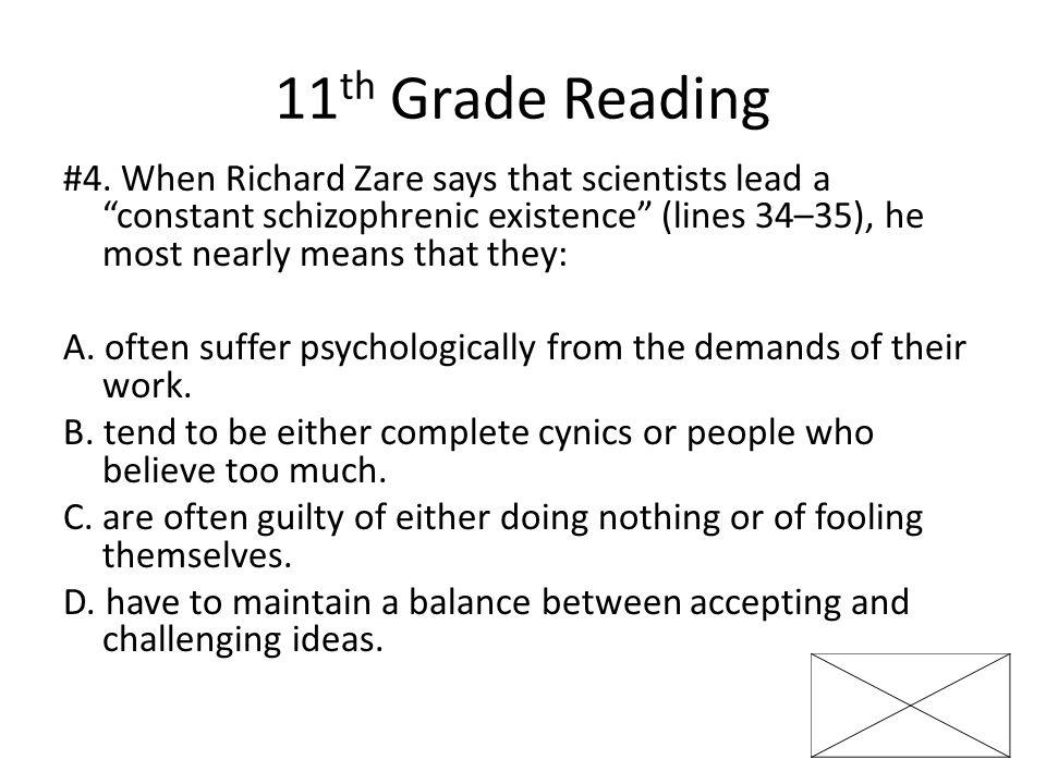 11 th Grade Reading #4.