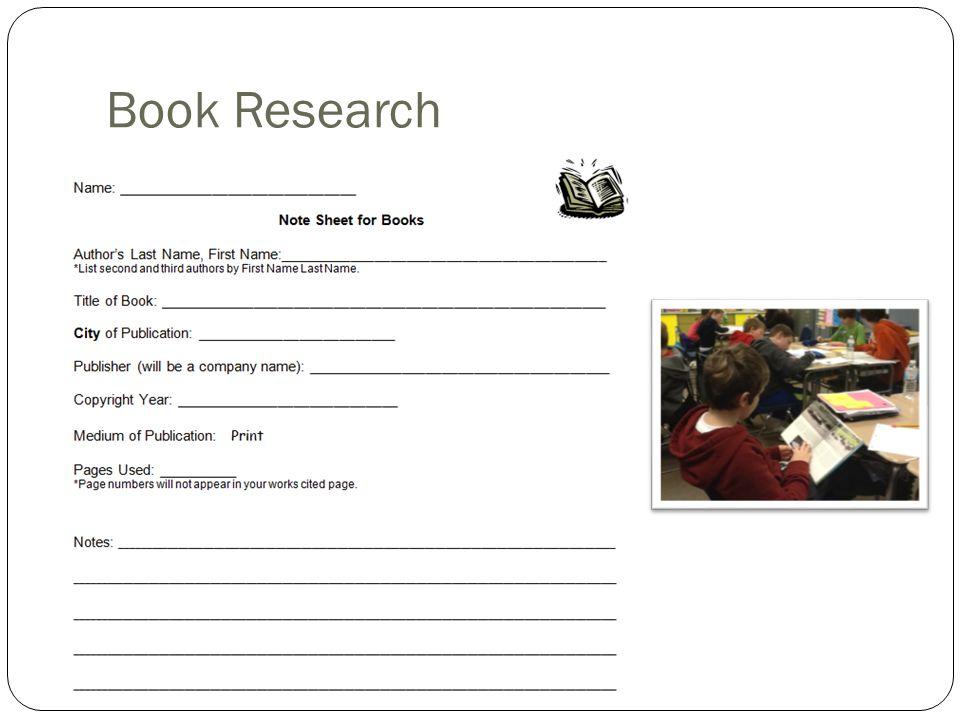Book Research