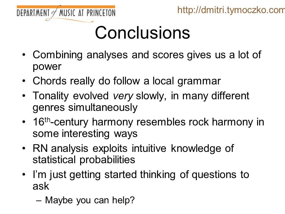RN analysis as generalization http://dmitri.tymoczko.com g: i V 6 i V 6 /III III F: I V 6 I vii° 6 I 6 7:1 (NB: no V# ) 4.3:1