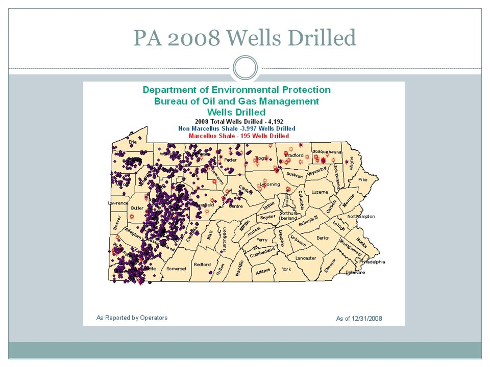 PA 2008 Wells Drilled