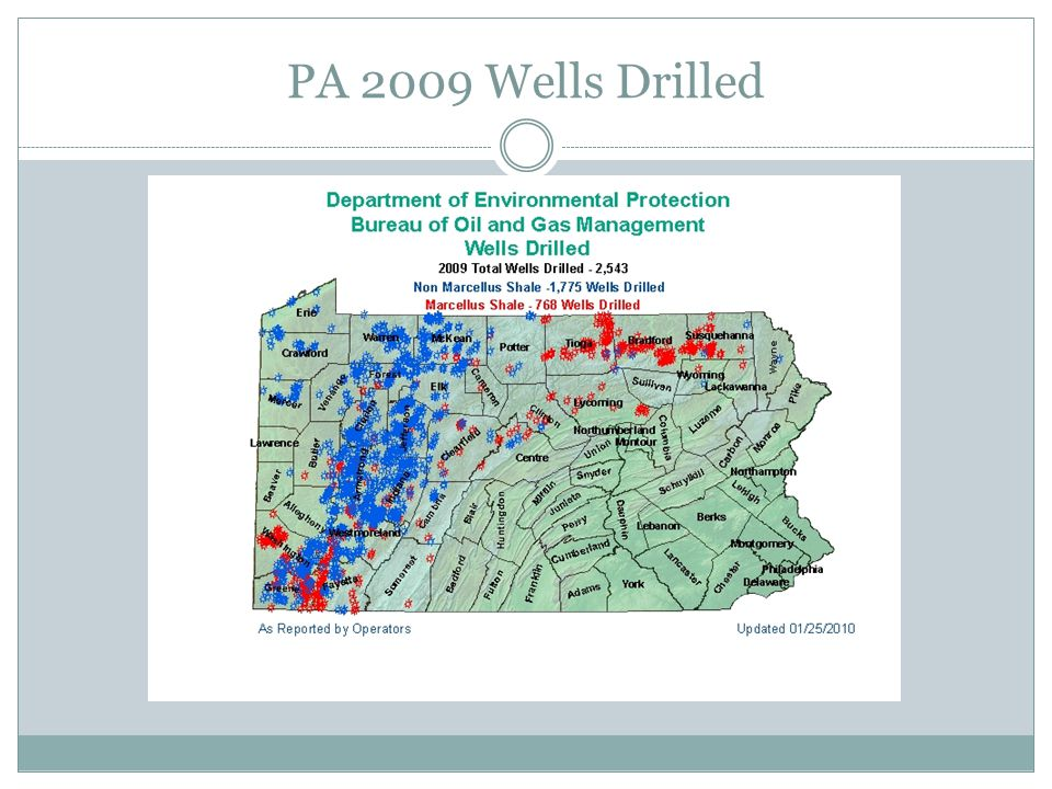 PA 2009 Wells Drilled