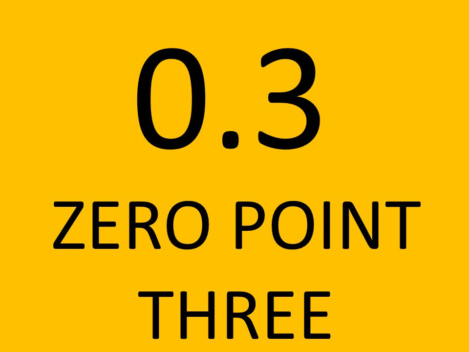 0.3 ZERO POINT THREE