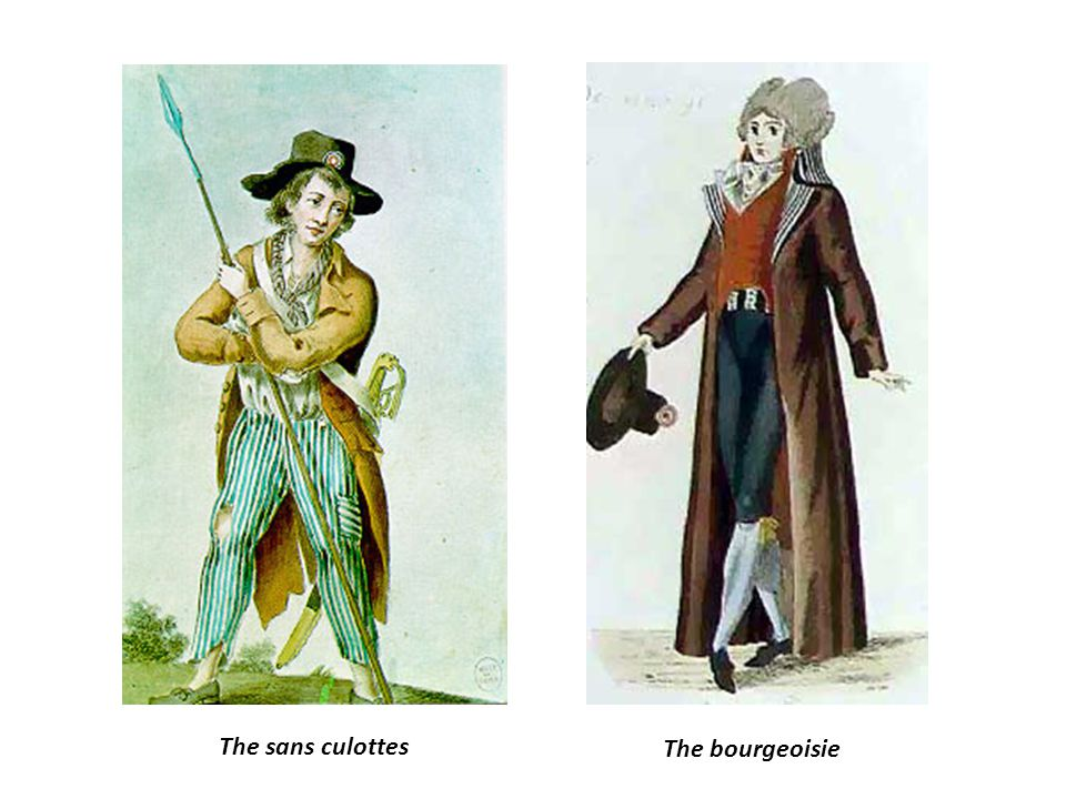The San-Culottes At the beginning of the revolution, the working men of Paris allowed the revolutionary bourgeoisie to lead them. But by 1790 the sans