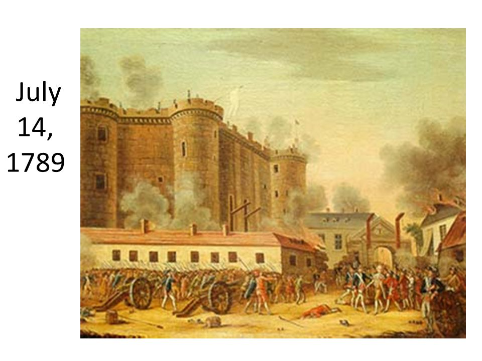 On July 14, 1789, the Storming Of The Bastille took place. It happened when members of the 3 rd estate into the Bastille, which is a French prison, lo