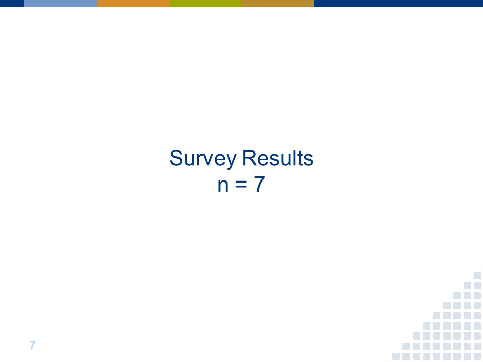 Survey Results n = 7 7
