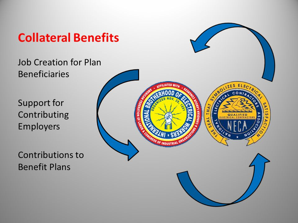 Collateral Benefits Job Creation for Plan Beneficiaries Support for Contributing Employers Contributions to Benefit Plans