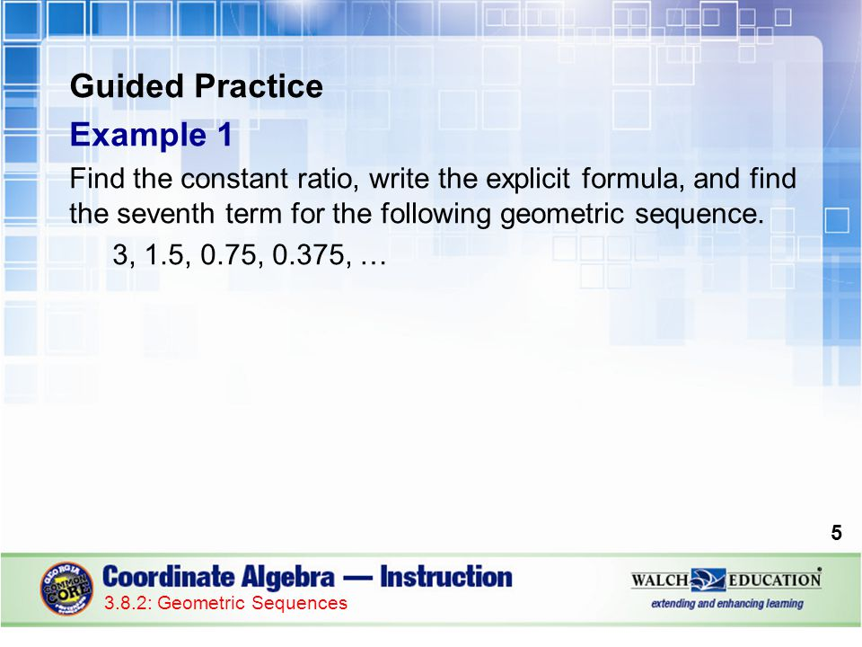 Guided Practice: Example 3, continued 3.Substitute 8 in for n and evaluate.