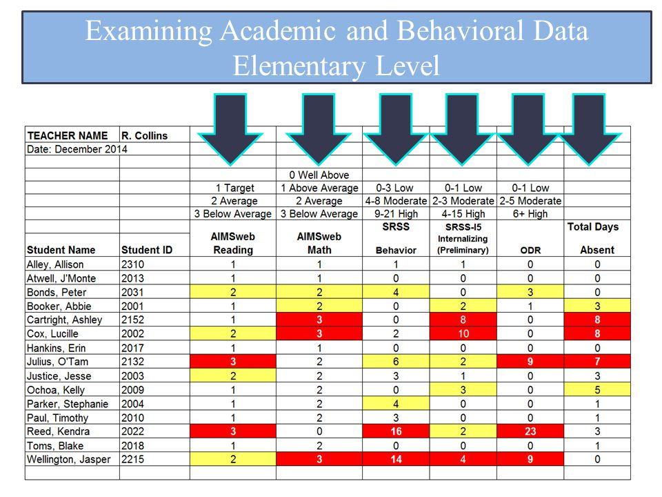 Examining Academic and Behavioral Data Elementary Level