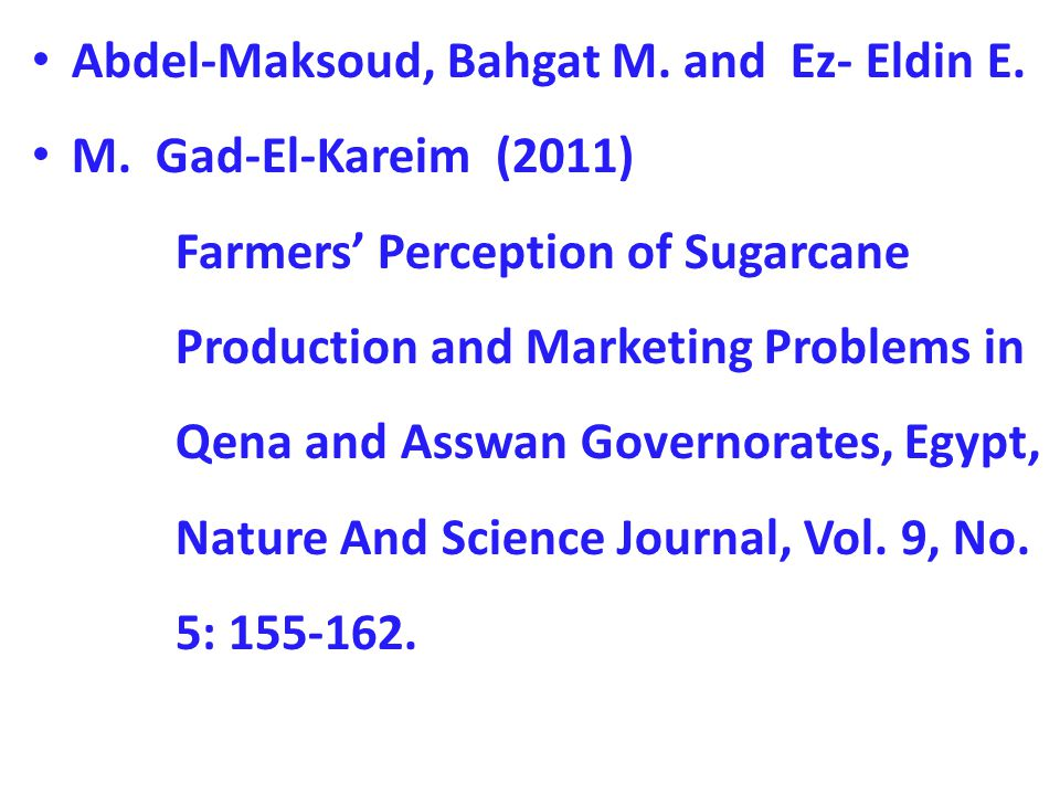 Abdel-Maksoud, Bahgat M. and Ez- Eldin E. M.