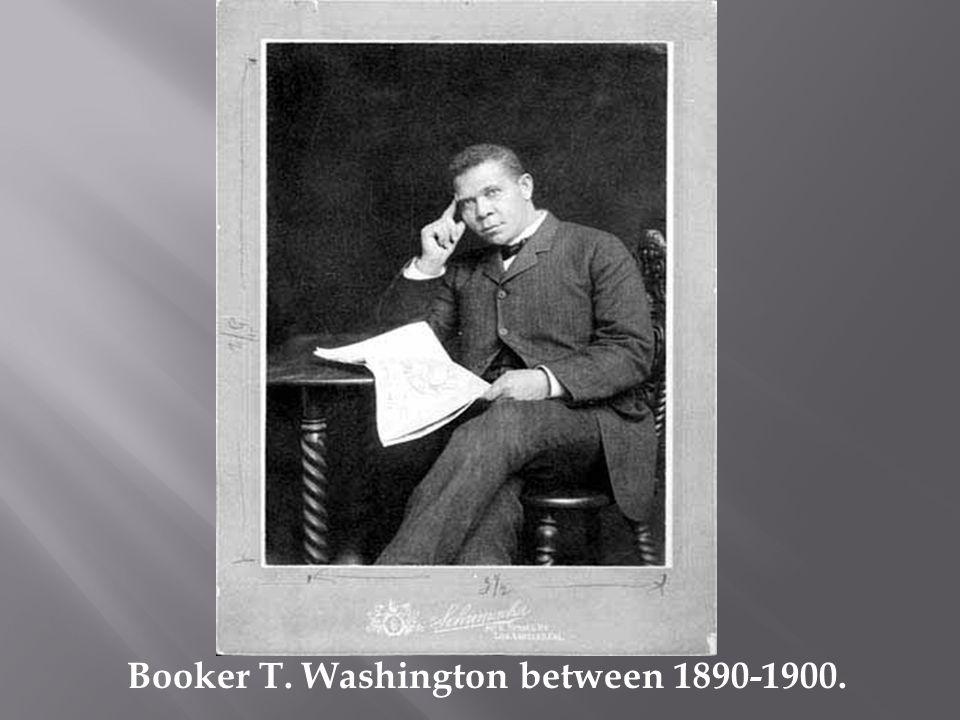 Booker T. Washington between 1890-1900.