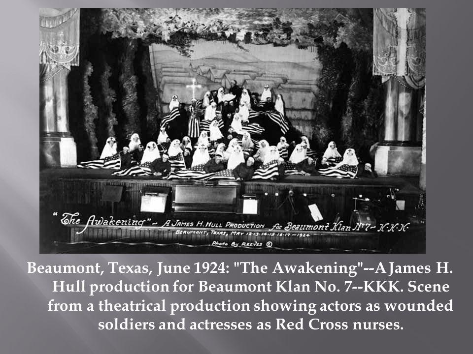 Beaumont, Texas, June 1924: The Awakening --A James H.