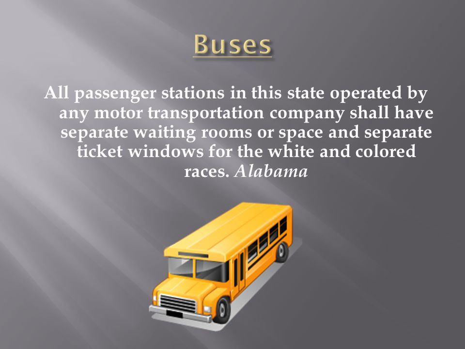 All passenger stations in this state operated by any motor transportation company shall have separate waiting rooms or space and separate ticket windo