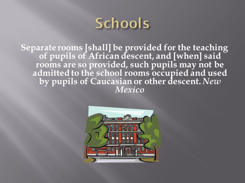 Separate rooms [shall] be provided for the teaching of pupils of African descent, and [when] said rooms are so provided, such pupils may not be admitt