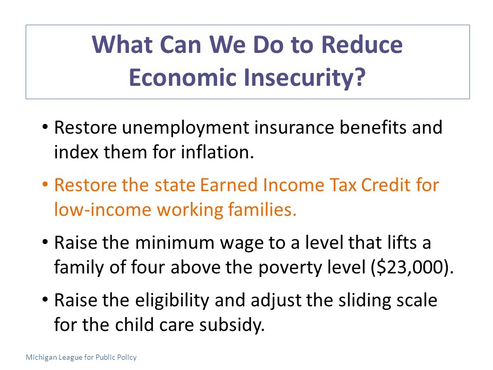 What Can We Do to Reduce Economic Insecurity.
