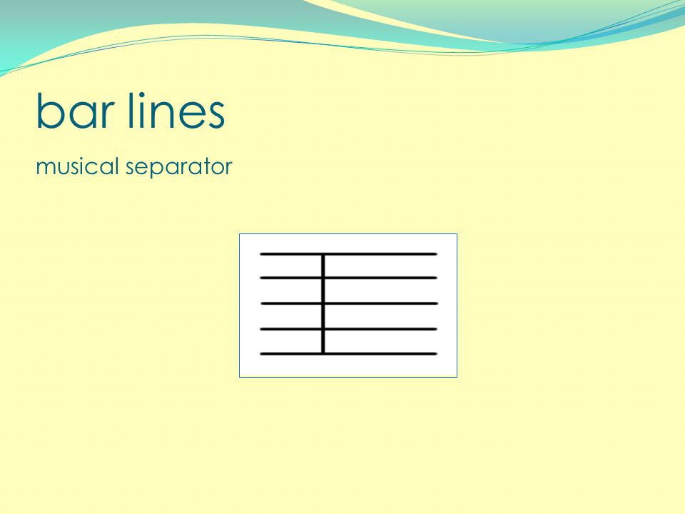 bar lines musical separator