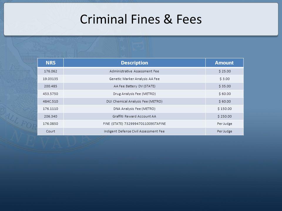 Criminal Case Flow Disbursement
