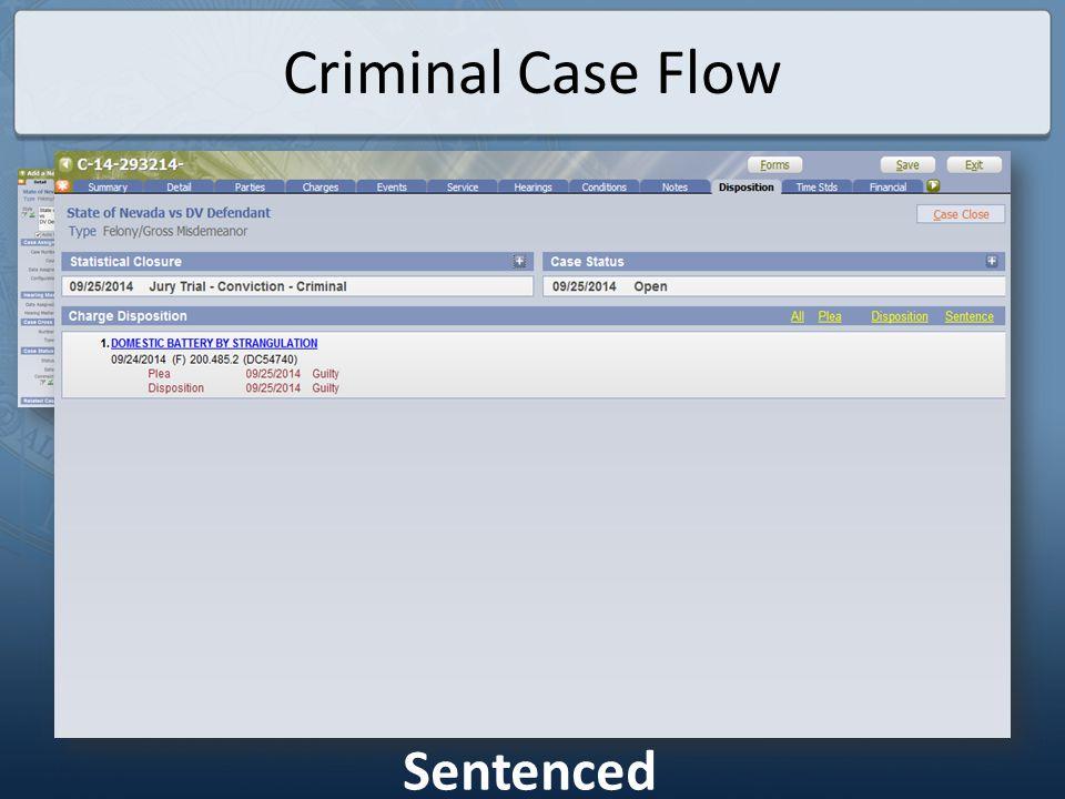 Criminal Case Flow Fines & Fees Imposed