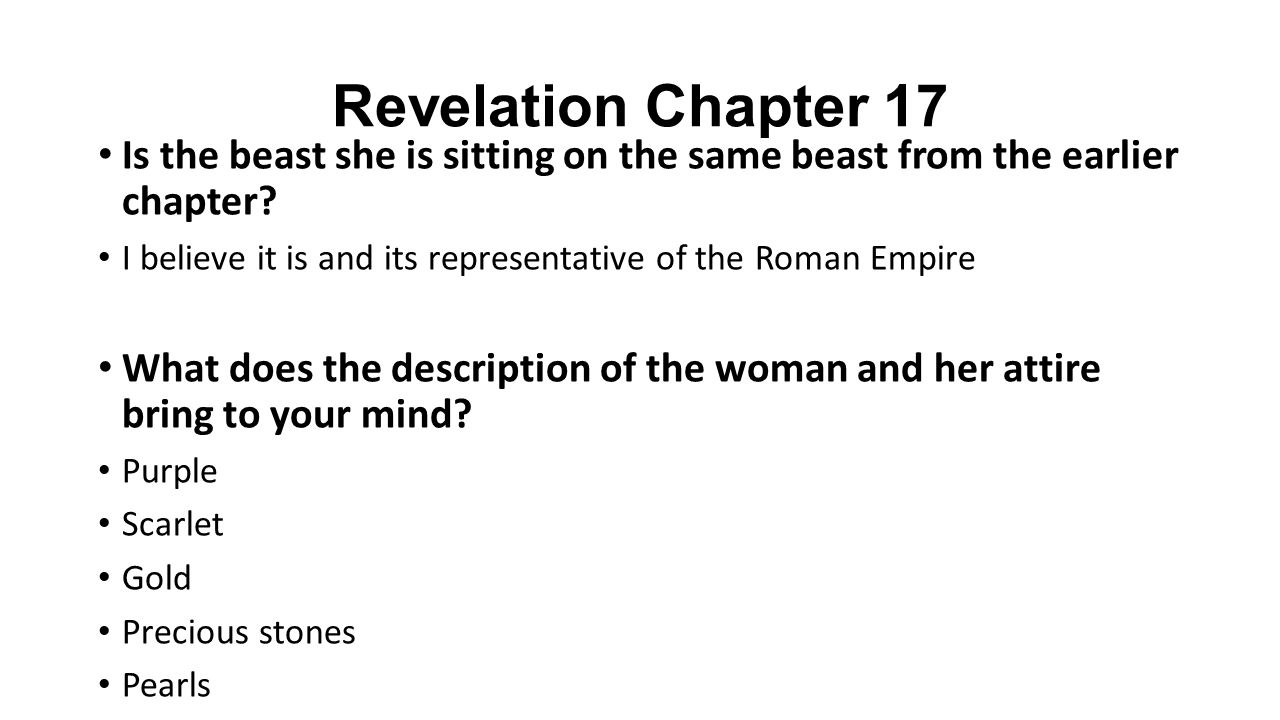 Revelation Chapter 17 Is the beast she is sitting on the same beast from the earlier chapter.