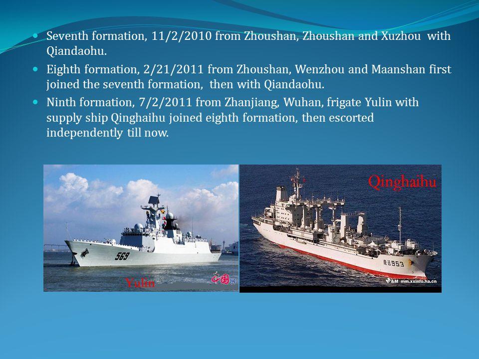 Seventh formation, 11/2/2010 from Zhoushan, Zhoushan and Xuzhou with Qiandaohu.