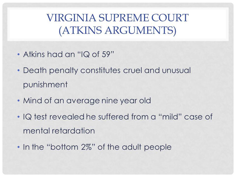 VIRGINIA SUPREME COURT (COURT ARGUMENTS) Penry V.