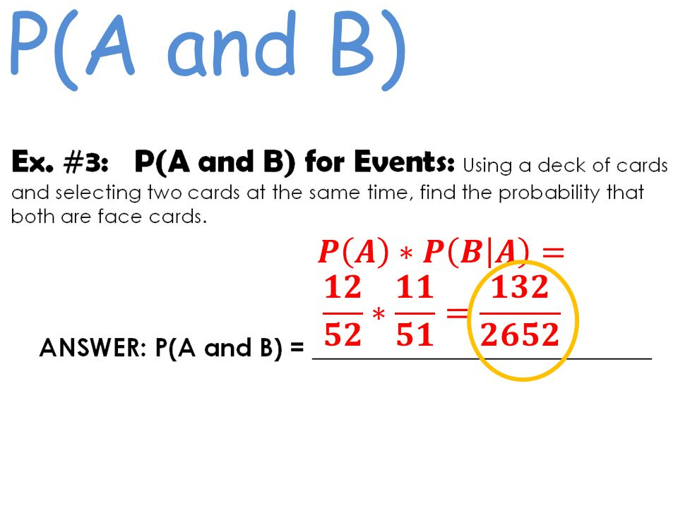 P(A and B)
